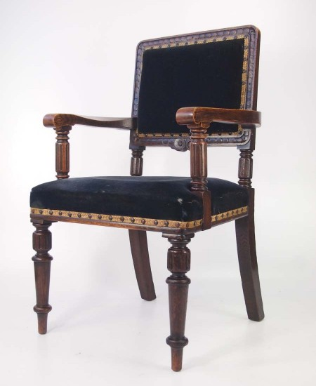 Edwardian Oak Armchair