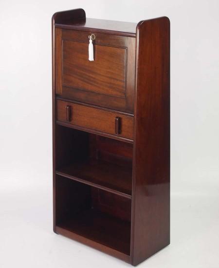 Slim Art Deco Mahogany Bureau