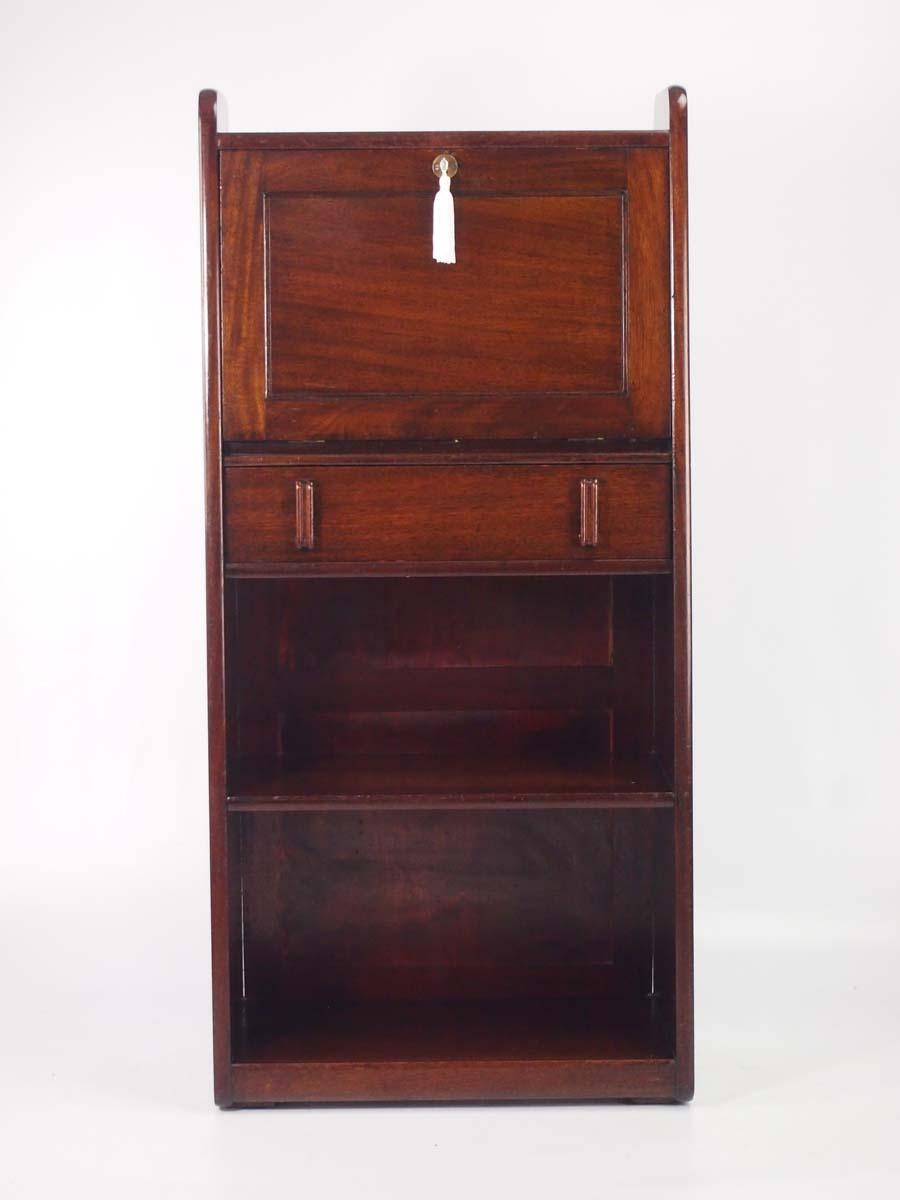 slim art deco mahogany bureau. Black Bedroom Furniture Sets. Home Design Ideas