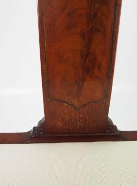Pair Edwardian Mahogany Side Chairs