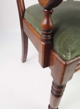 Antique Victiorian Mahogany Desk Chair