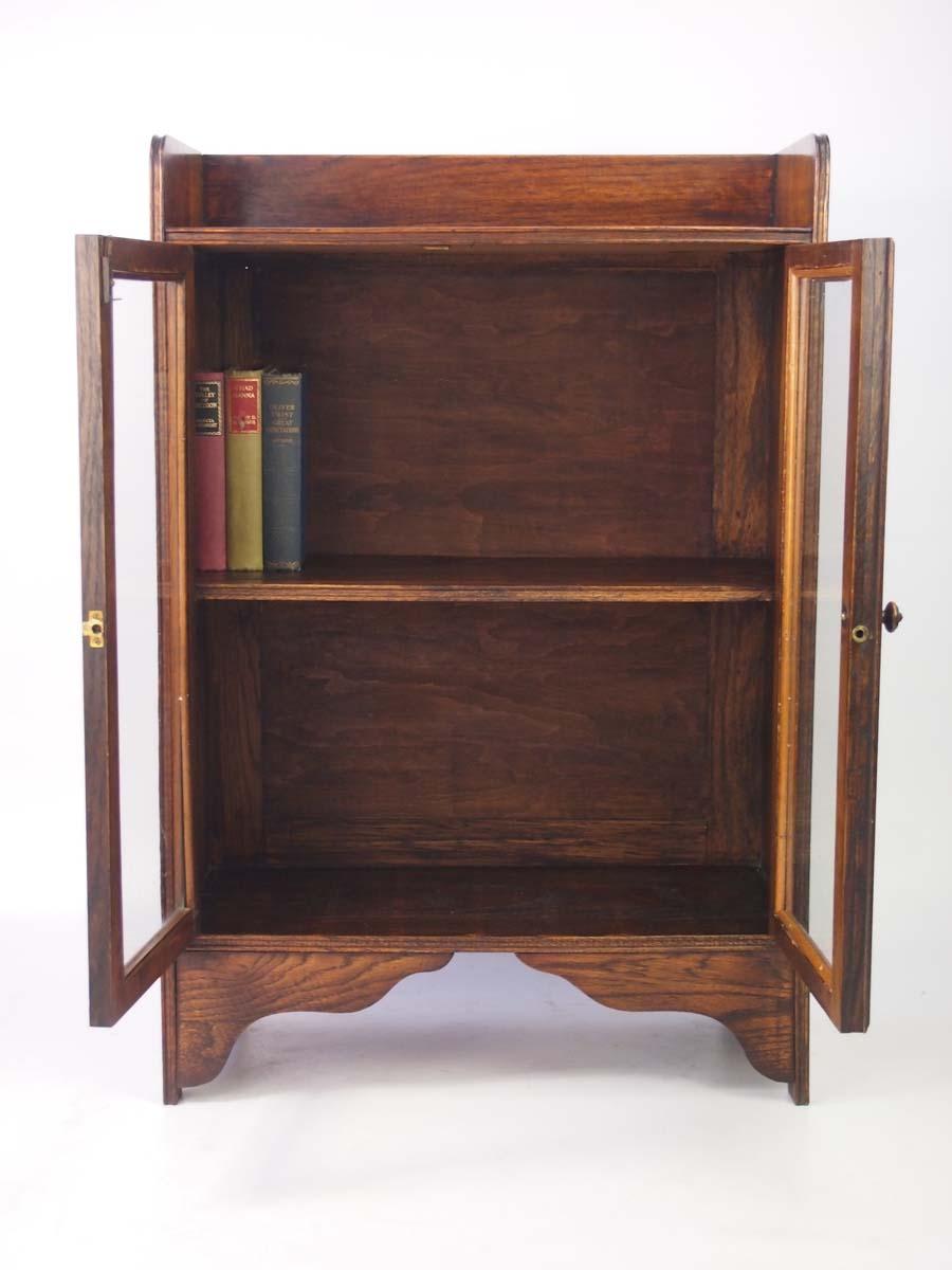 Small Antique Edwardian Oak Bookcase