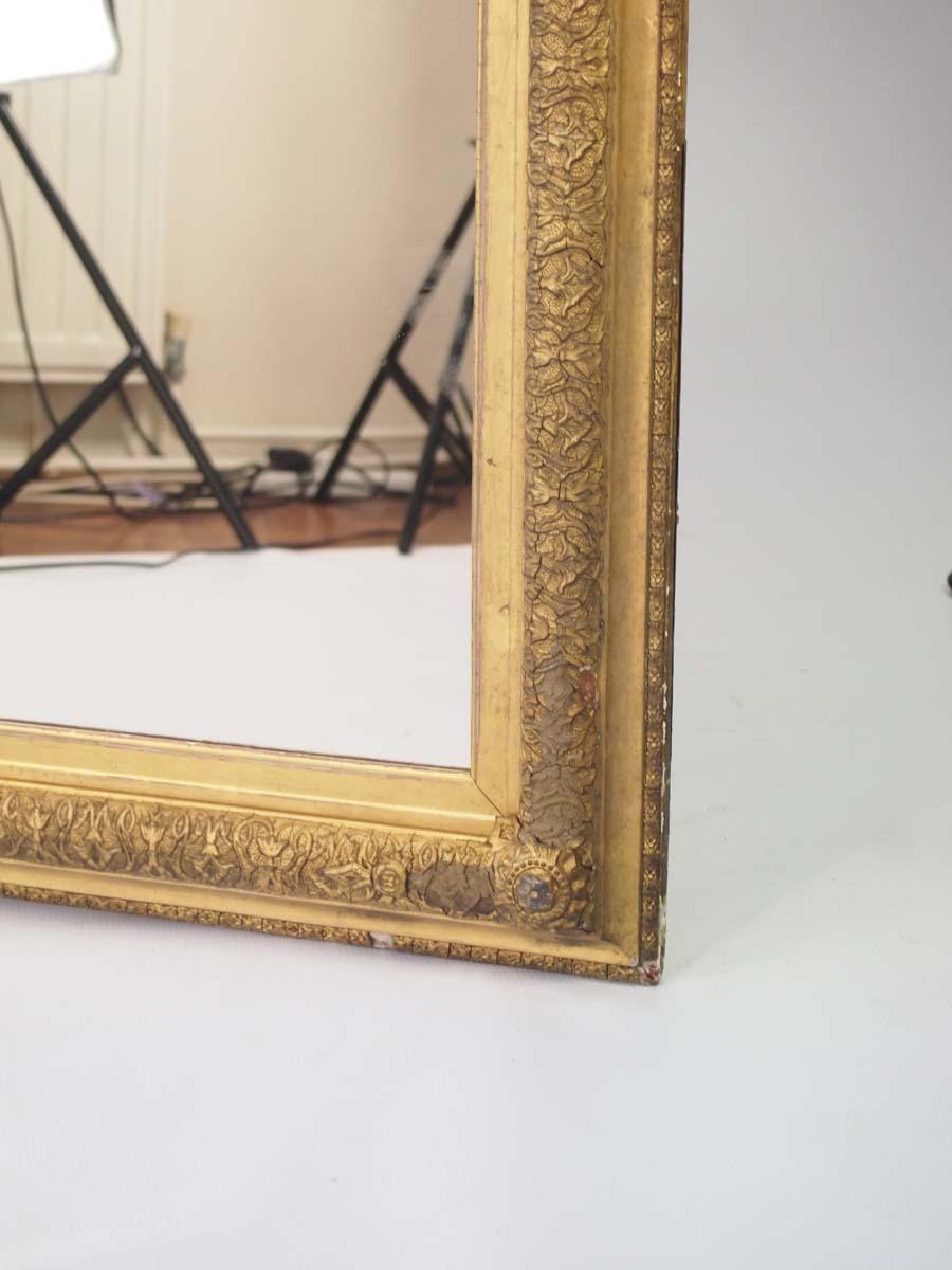 Large Antique Victorian Gilt Framed Mirror
