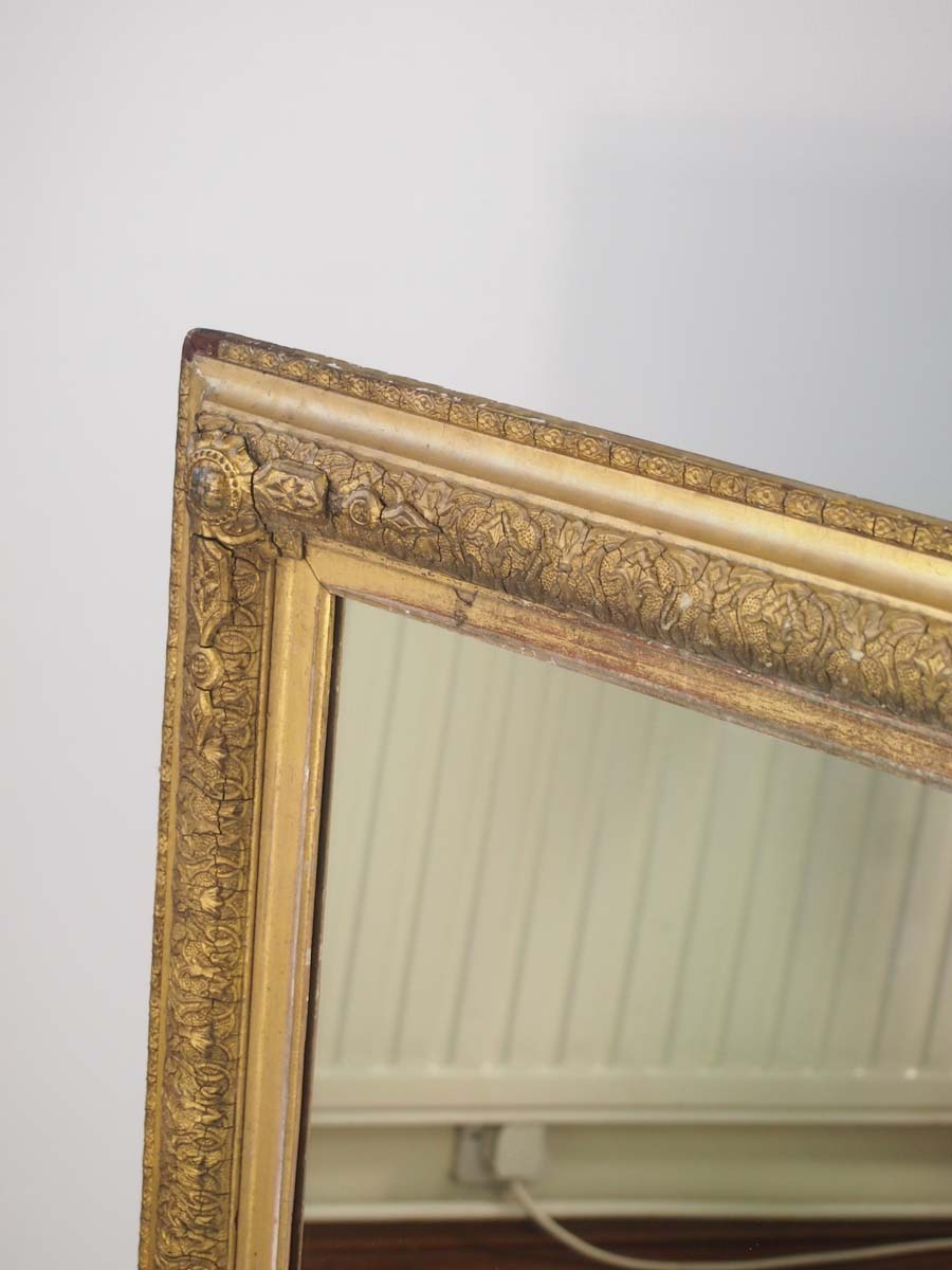 Large Antique Victorian Gilt Framed Mirror