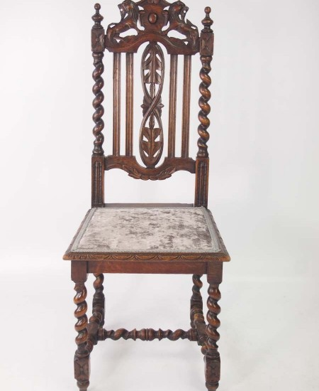 Set 4 Victorian Gothic Chairs