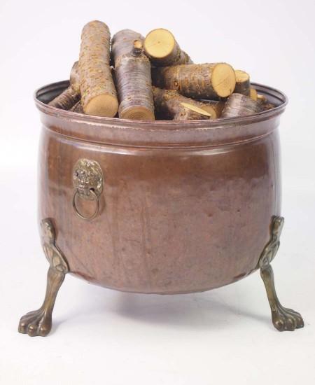 Copper Log Bin