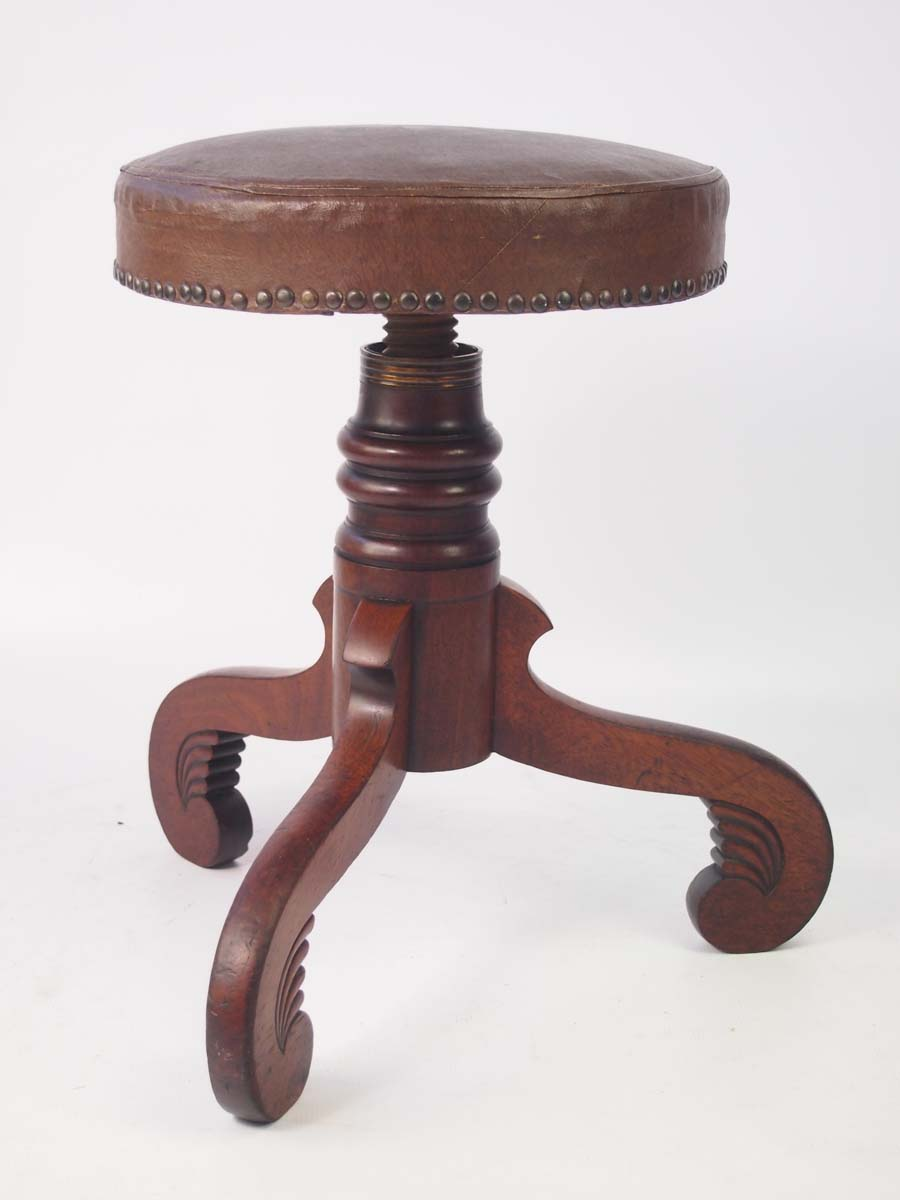 Antique Furniture Antiques Antique Mahogany Stool