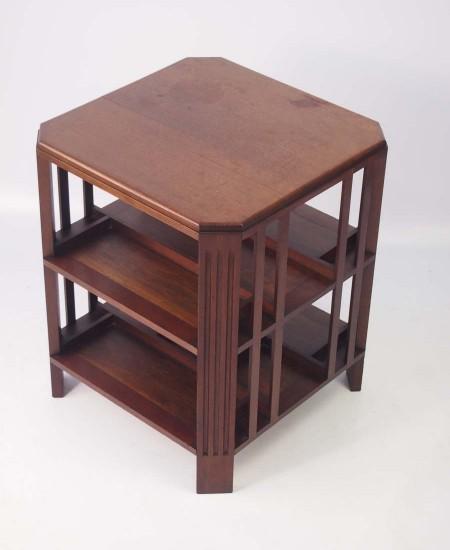 Art Deco Mahogany Book Table