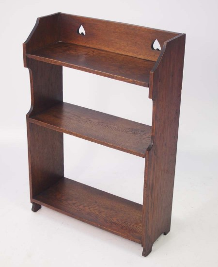 Antique Arts & Crafts Oak Hanging Shelves