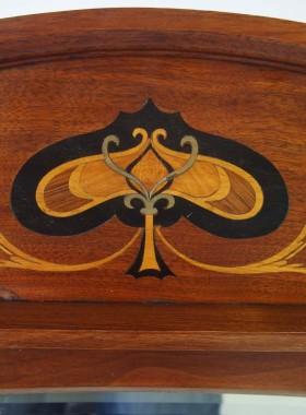 Antique Arts & Crafts Overmantle Mirror