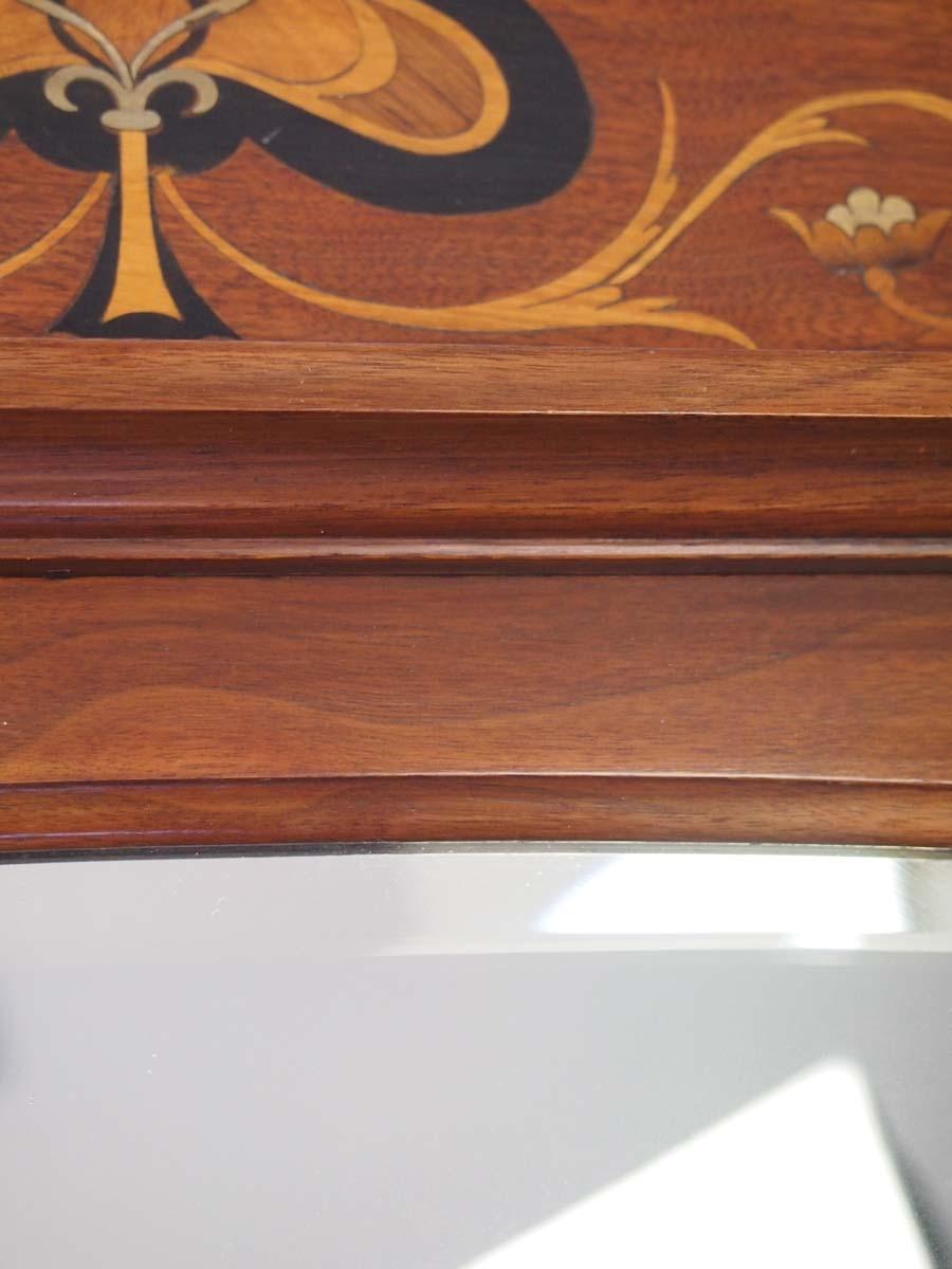 Antique Arts Amp Crafts Walnut Overmantle Mirror