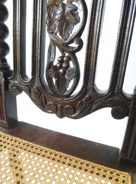 Pair Victorian Gothic Revival Oak Chairs