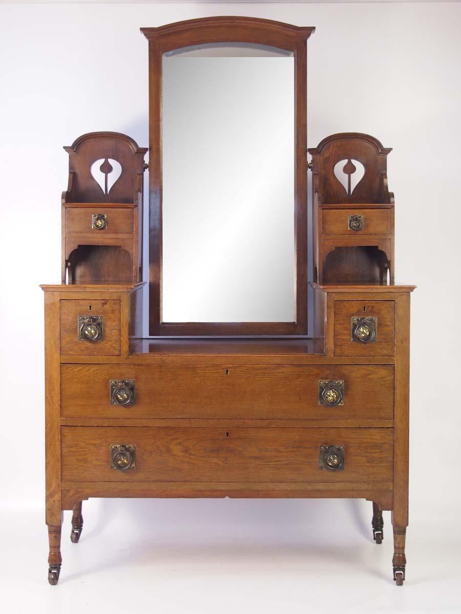 Antique Arts Amp Crafts Oak Dressing Table