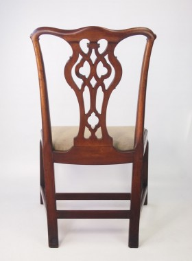 Antique Georgian Mahogany Chippendale Desk Chair