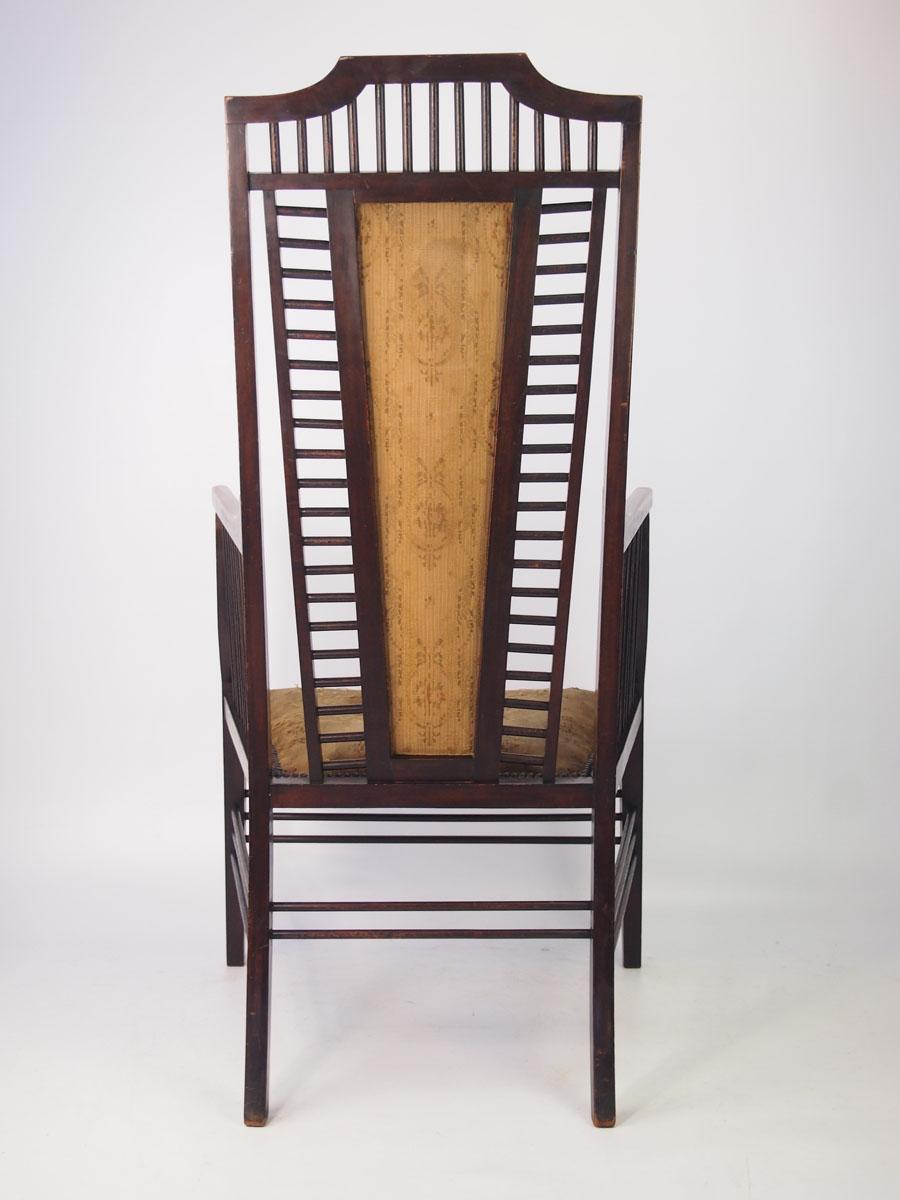 Antique Mahogany Arts Amp Crafts Armchair