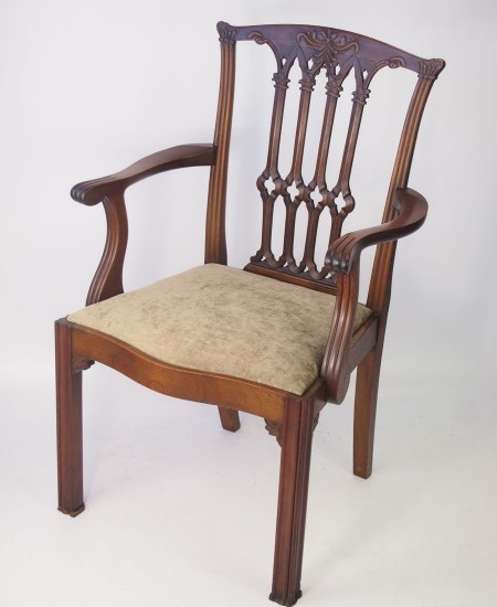 Antique Edwardian Mahogany Desk Chair