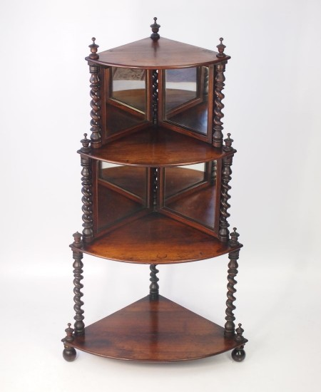 Antique Rosewood Corner Whatnot
