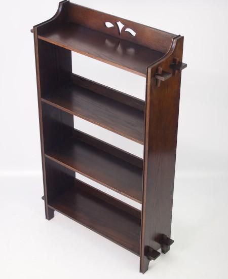 Edwardian Arts & Crafts Oak Open Bookcase