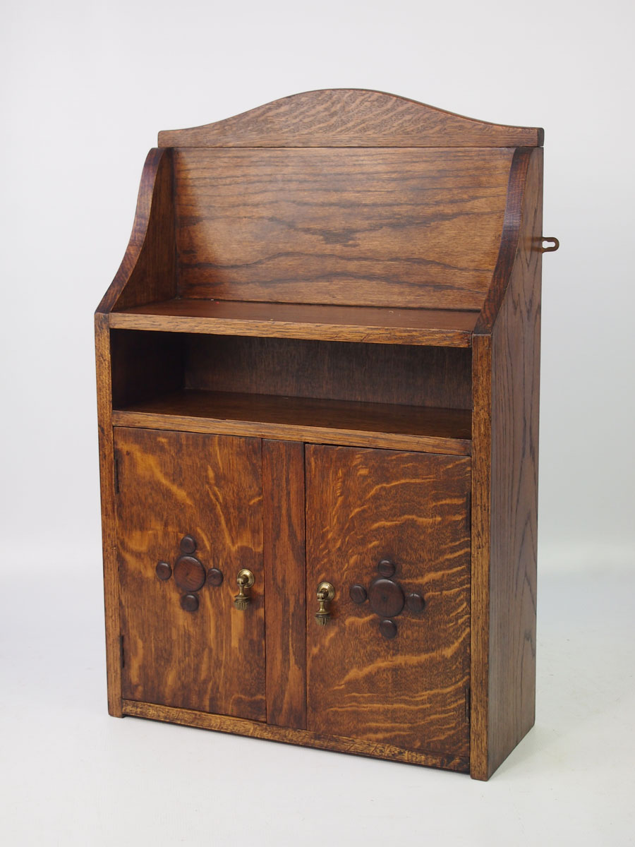 Small Vintage Oak Hanging Cabinet
