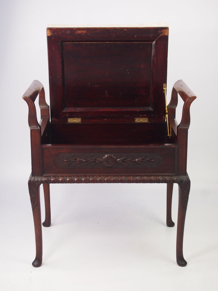 Antique Bed Stool: Antique Edwardian Mahogany Piano Stool