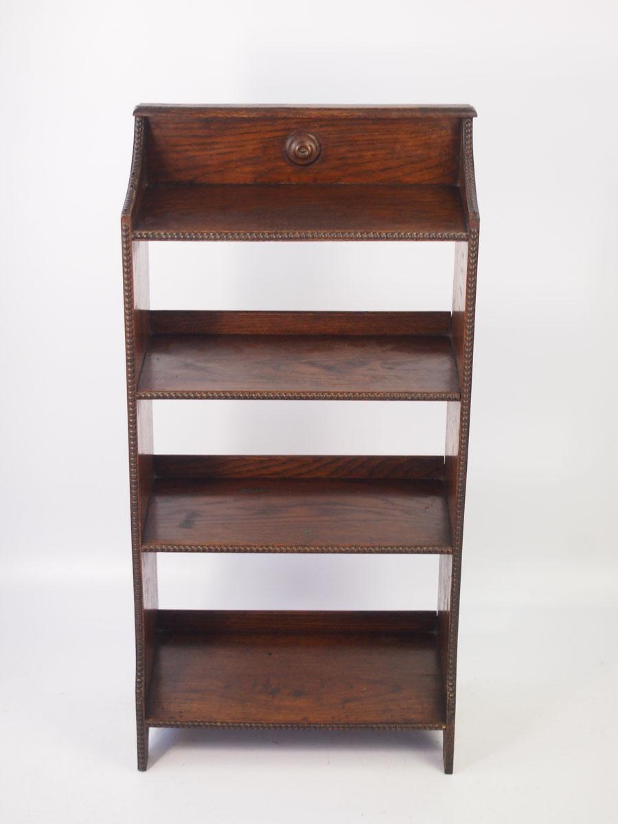 Small Edwardian Oak Open Bookcase