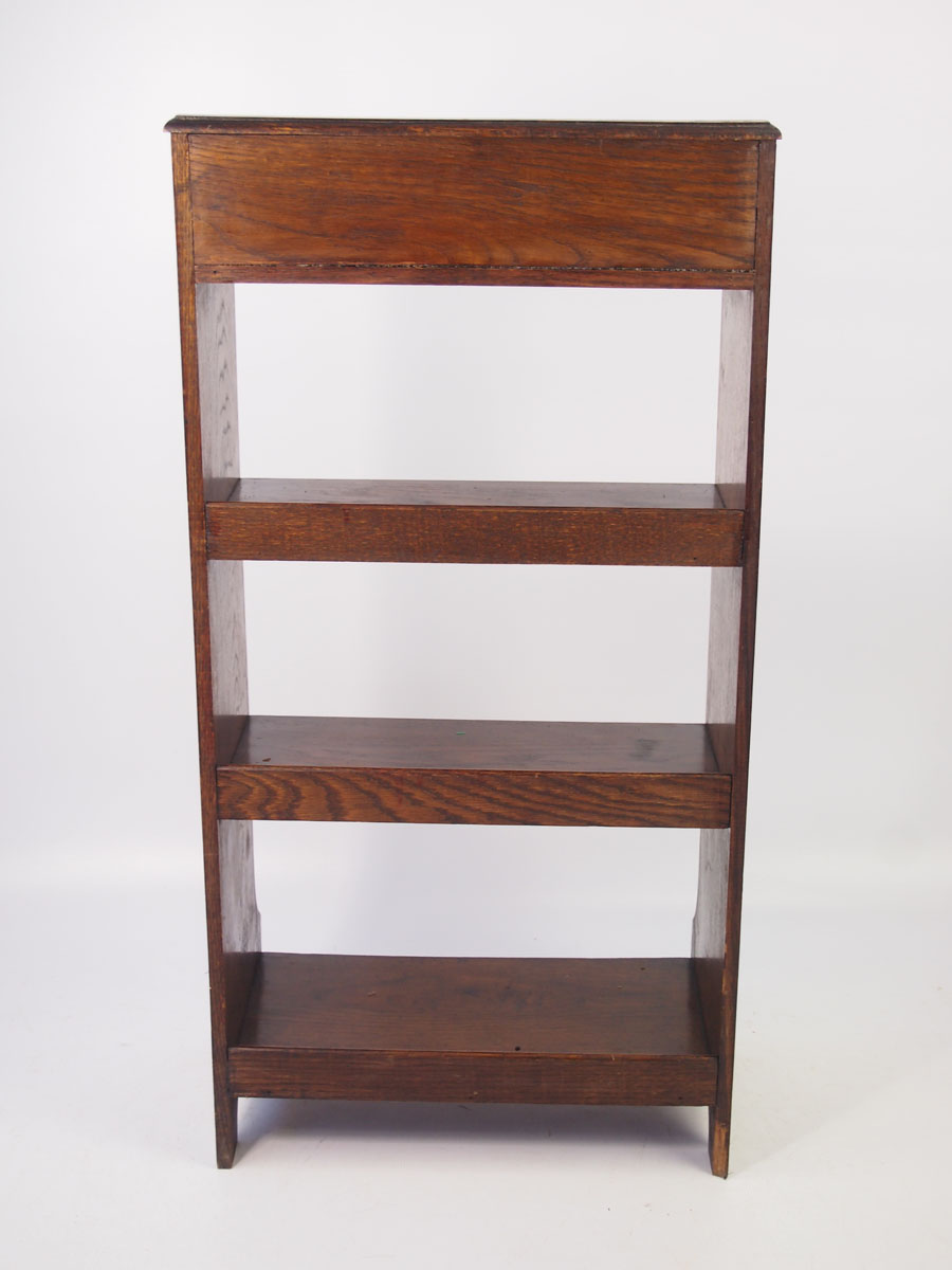 Small Edwardian Oak Open Bookcase