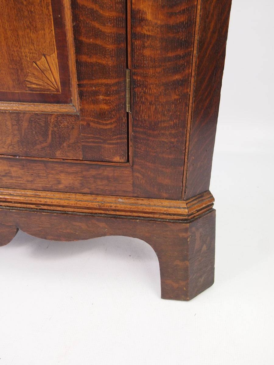 Antique Georgian Oak Floor Standing Corner Cupboard