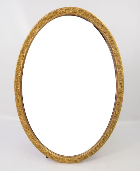 Edwardian Gilt Oval Mirror