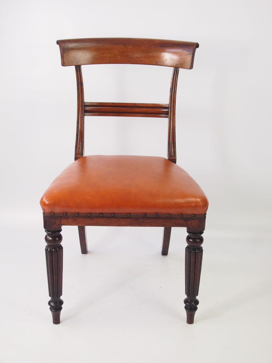Pair Antique Victorian Mahogany Side Chairs
