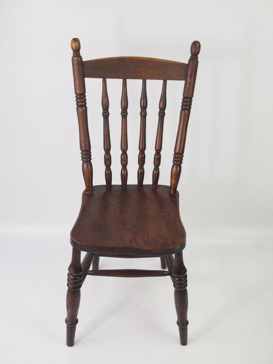 Pair Antique Victorian Kitchen Chairs