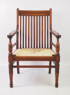 Antique Arts and Crafts Walnut Armchair