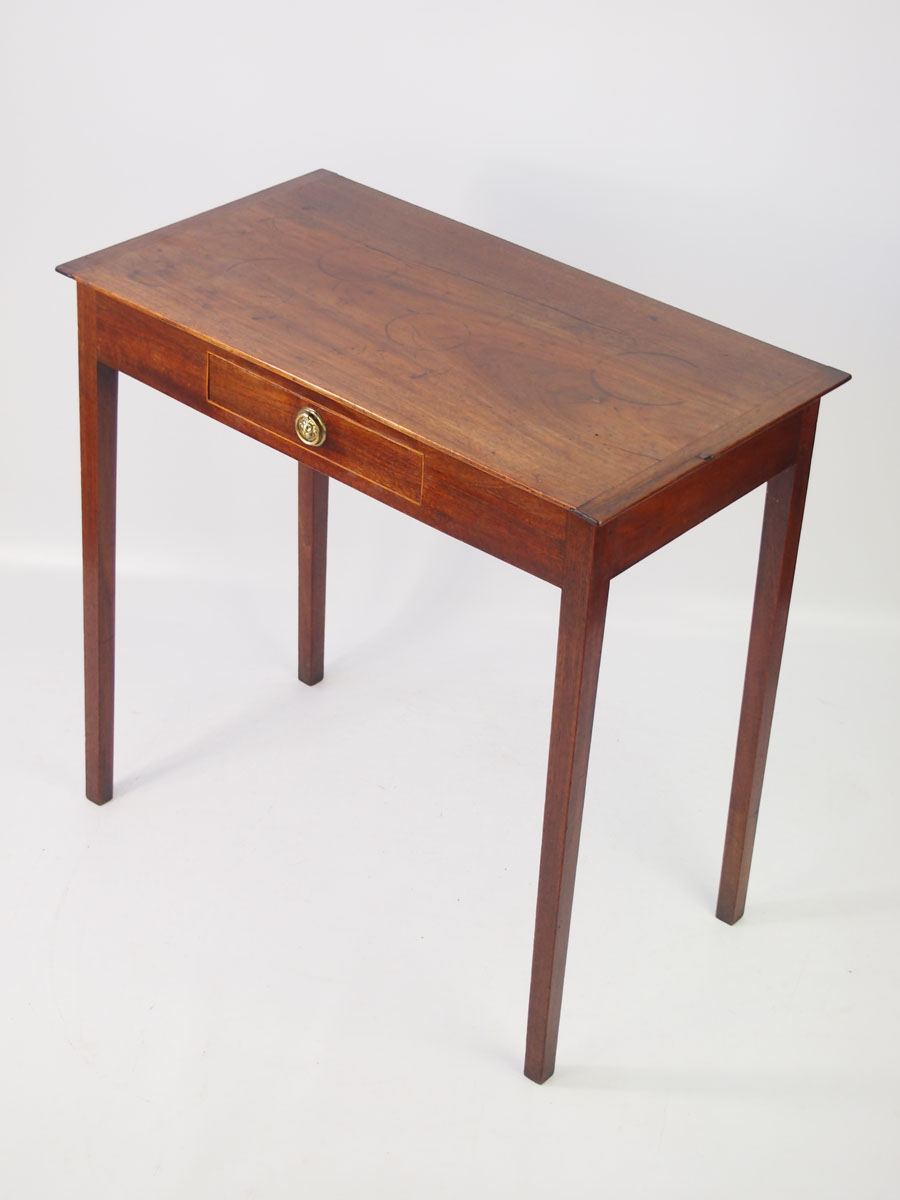 Small Antique Mahogany Writing Desk Side Table