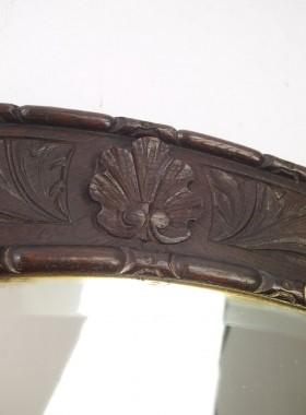 Antique Carved Oak Mirror