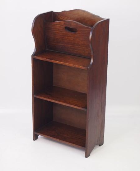 Edwardian Oak Book Trough