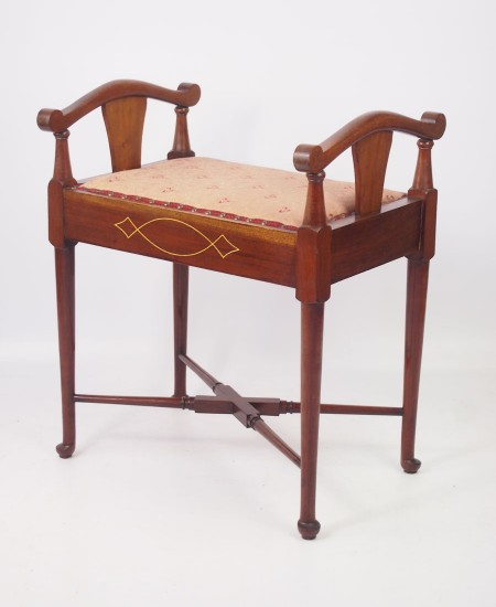 Edwardian Mahogany Dressing Table Stool