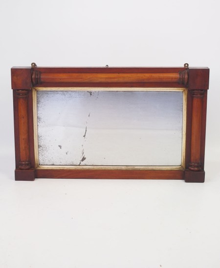 Small William IV Mahogany Overmantle Mirror