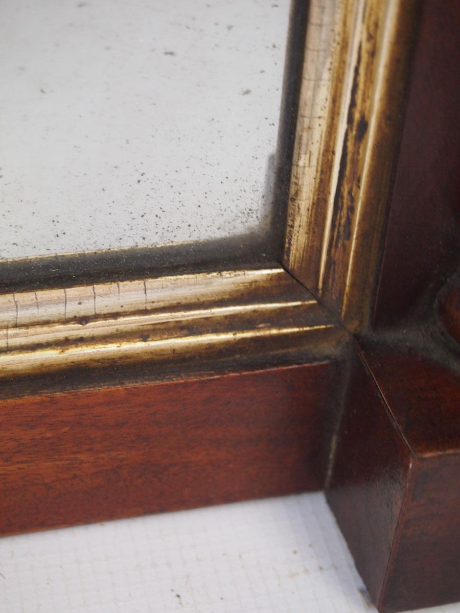 Small Regency Mahogany Overmantle Mirror Hall Mirror