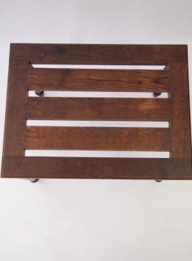 Edwardian Oak Luggage Rack