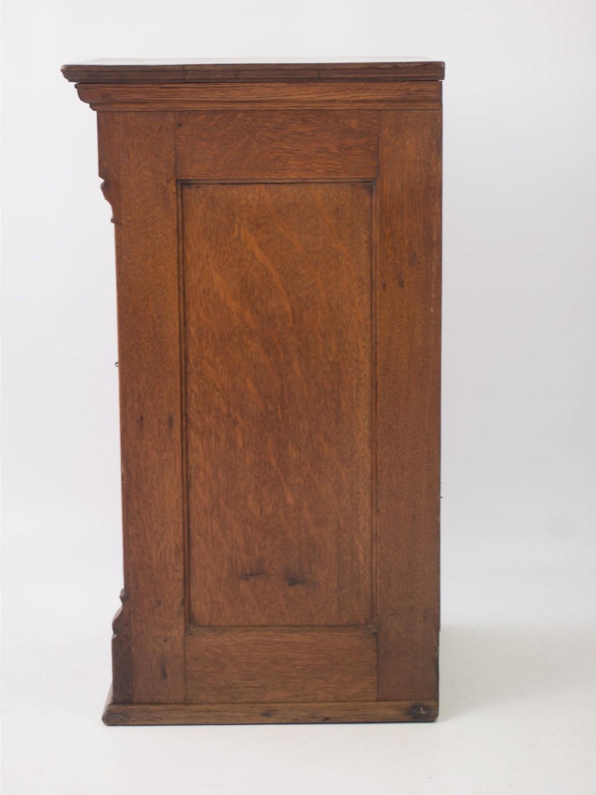 Edwardian Oak Music Cabinet Filing Cabinet