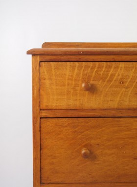 Small Edwardian Oak Chest of Drawers