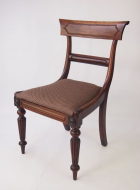 Pair Early Victorian Mahogany Side Chairs