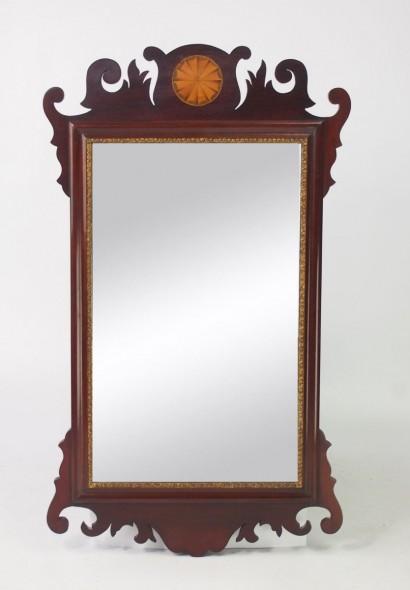 Edwardian Mahogany Chippendale Mirror