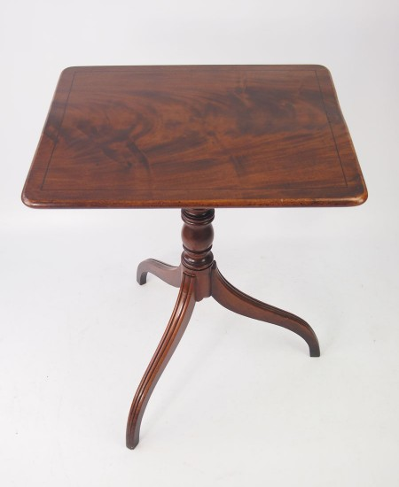 Antique Regency Mahogany Tilt Top Table