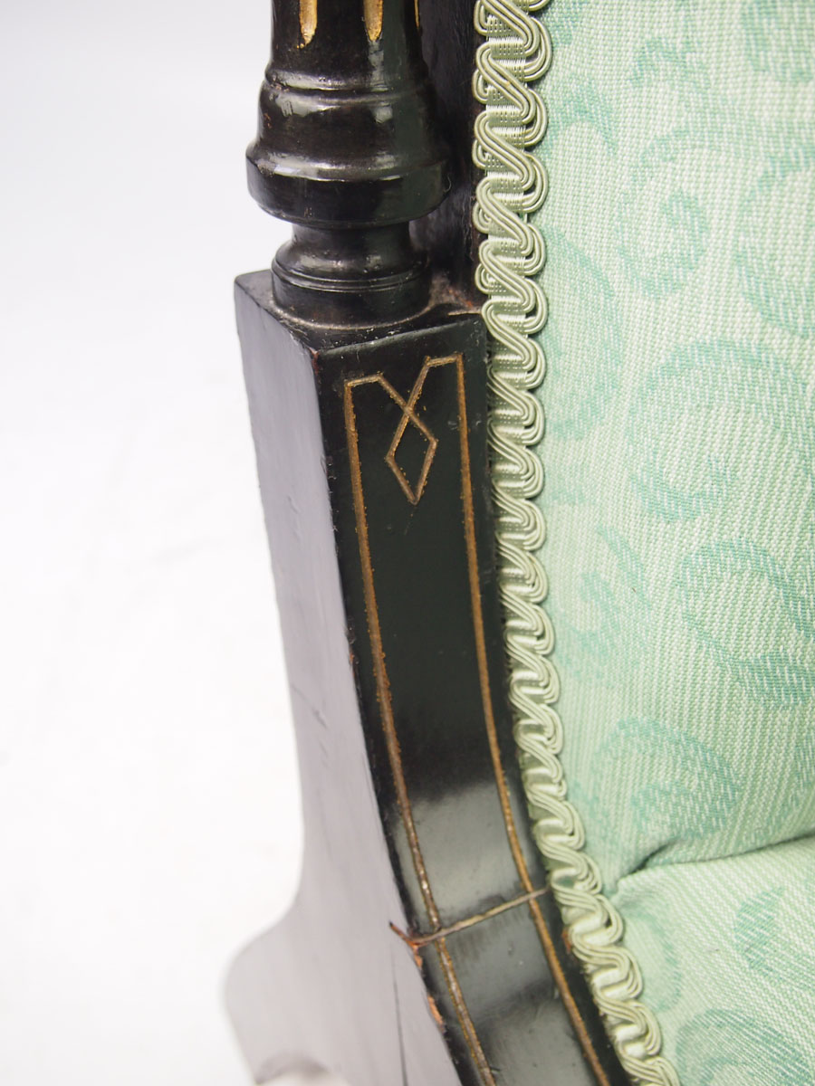 Small Antique Aesthetic Movement Dressing Table Chair