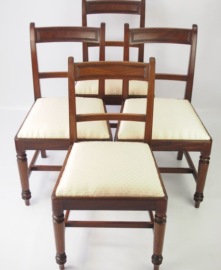 Set 4 Georgian Mahogany Dining Chairs