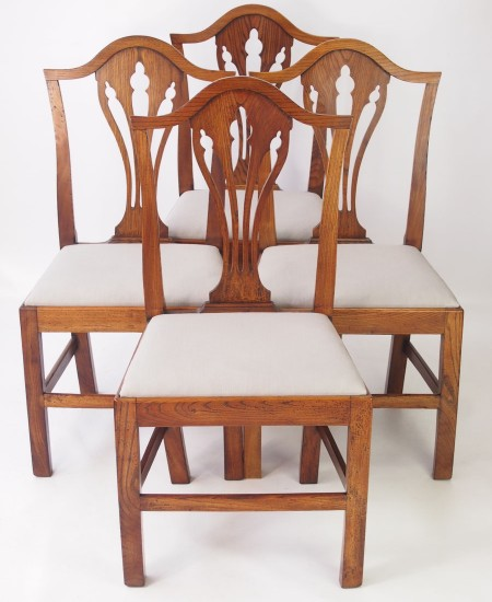 Set 4 Georgian Elm Chairs