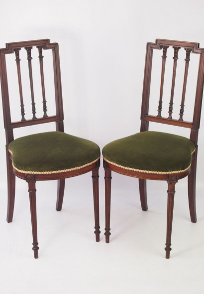 Pair Small Antique French Bedroom Chairs