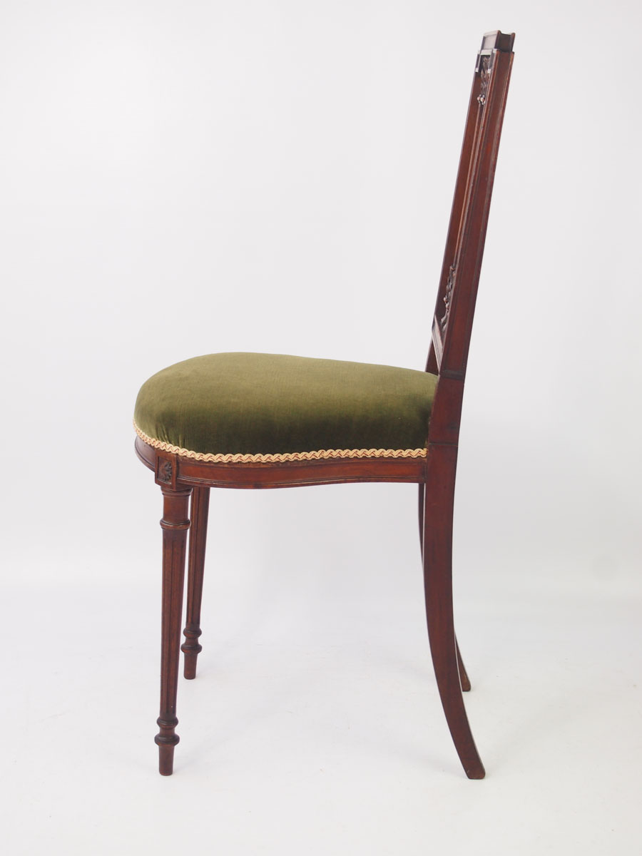 Pair Bed Stools: Pair Of Small Antique French Mahogany Chairs