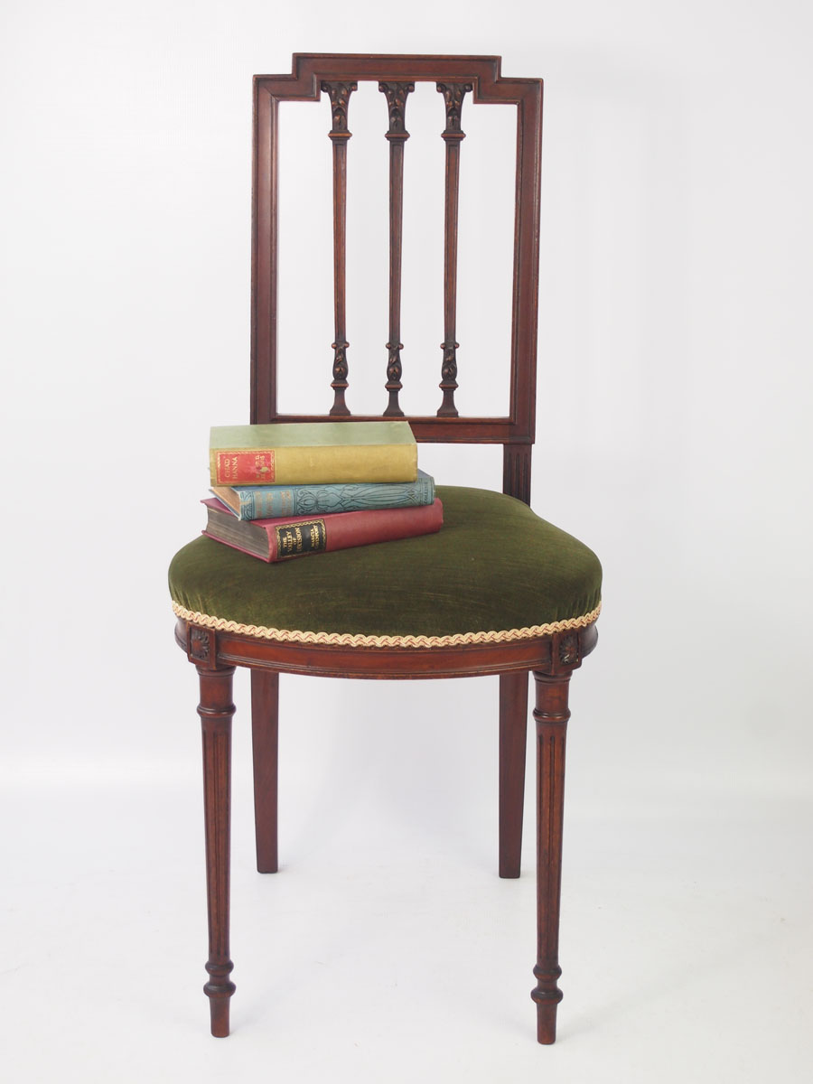 Pair Of Small Antique French Mahogany Chairs
