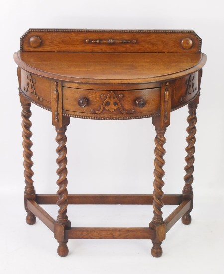 Edwardian Oak Hall Table